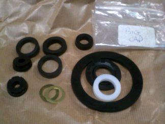 96 V4 & 2 Stroke Master Cylinder Repair Kit (Small Reservoir Cap), Metal Body 6 Bolt Top.