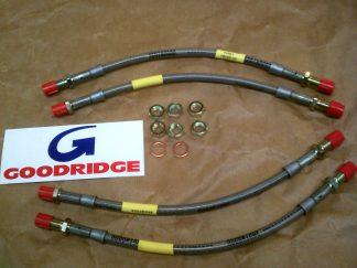 96 V4 & 2 Stroke Goodridge Flexible Hose Kit of 4, Plated